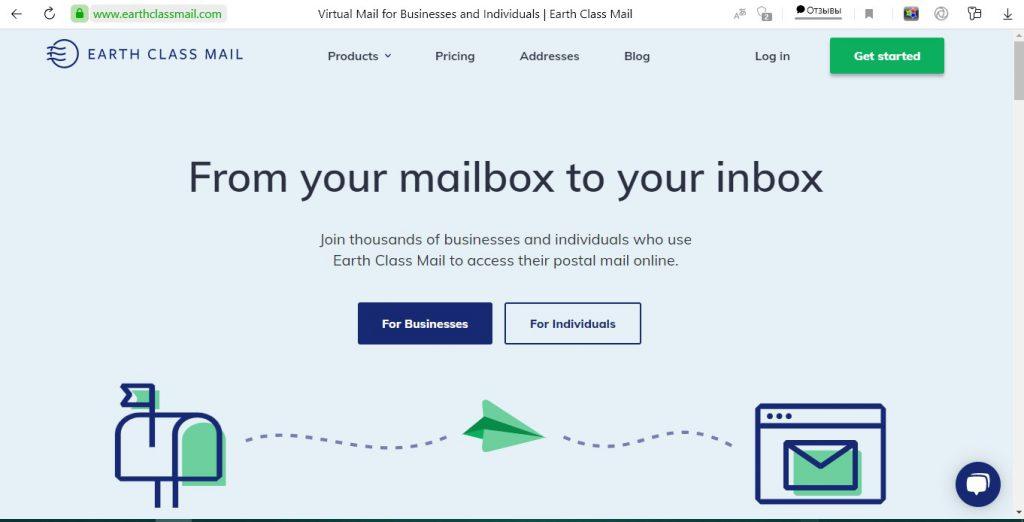 We took a screenshot of earthclassmail.com